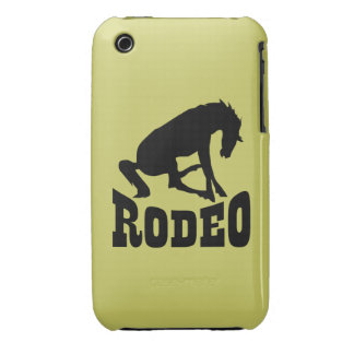 Rodeo Silhouette iPhone 3 Cases