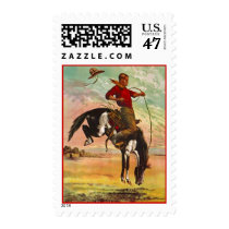 Rodeo Stamps ~ Rainbow Rider Wild Paint Bronco