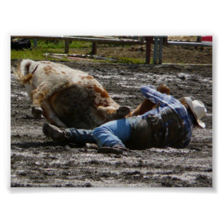 Rodeo Style Mud Wrestling Poster