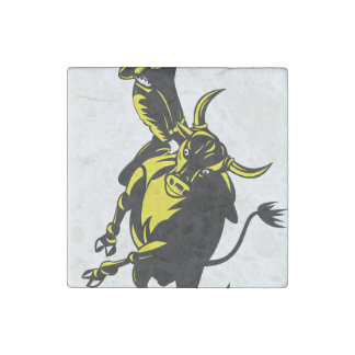 Rodeo Subject Stone Magnet
