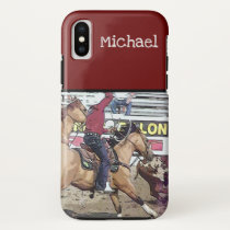 Rodeo Team Roping iPhone X Case