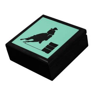 Rodeo Theme Cowgirl Barrel Racing Silhouette Gift Box