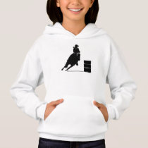Rodeo Theme Cowgirl Barrel Racing Silhouette Hoodie