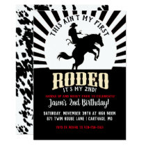 Rodeo Themed Second Birthday Invitation