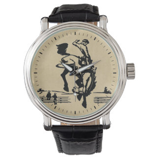 Rodeo Time Bronco Rider Wrist Watch