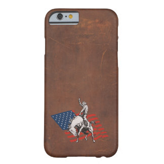 Rodeo USA - America, Cowboy Horse and flag Barely There iPhone 6 Case