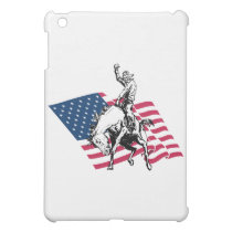 Rodeo USA - America, Cowboy Horse and flag Case For The iPad Mini