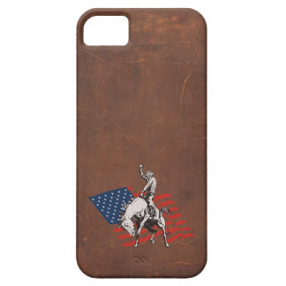 Rodeo USA - America, Cowboy Horse and flag iPhone SE/5/5s Case
