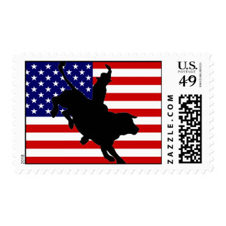 RODEO USA POSTAGE STAMP