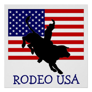 RODEO USA POSTER