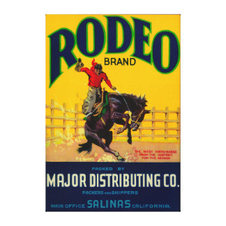 Rodeo Vegetable LabelSalinas, CA Canvas Print