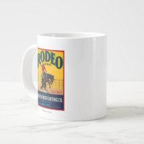 Rodeo Vegetable LabelSalinas, CA Large Coffee Mug