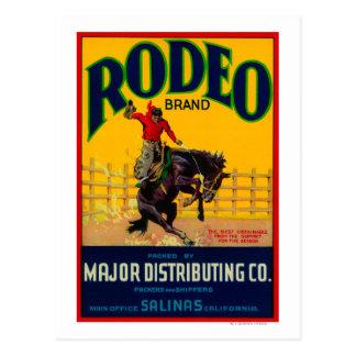 Rodeo Vegetable LabelSalinas, CA Postcard