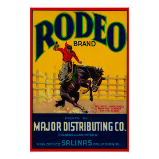 Rodeo Vegetable LabelSalinas, CA Posters
