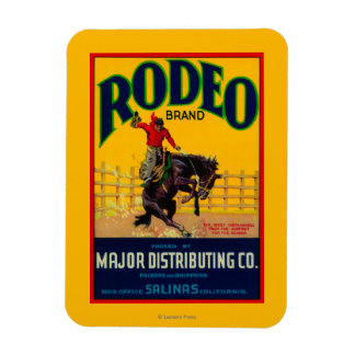 Rodeo Vegetable LabelSalinas, CA Rectangle Magnet