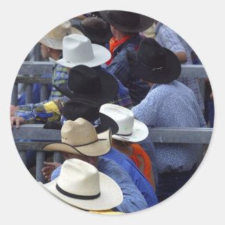 Rodeo - vigilantes de Bull Pegatina Redonda