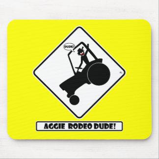 RODEO w1 de AGGIE Alfombrillas De Ratón