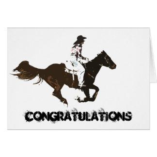 rodeos tarjeta de felicitación