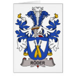 Roder Family Crest Greeting Card