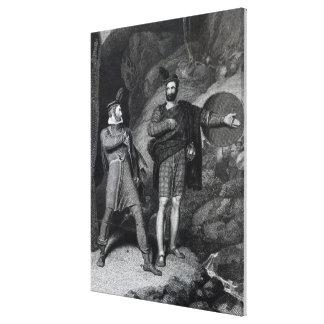 Roderick Dhu and a Clansman Canvas Print
