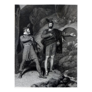 Roderick Dhu and a Clansman Postcard