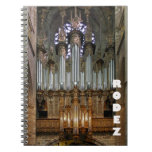 Rodez Cathedral organ notebook