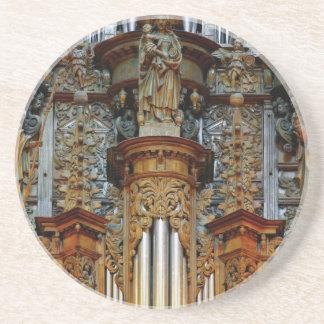 Rodez pipe organ drink coaster