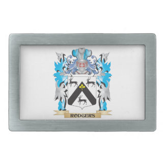 Rodgers Coat of Arms - Family Crest Rectangular Belt Buckle