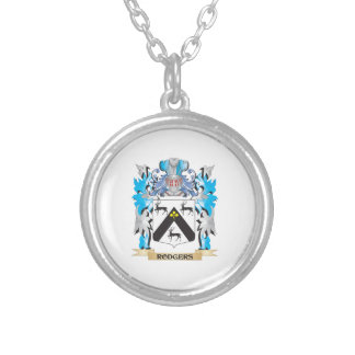 Rodgers Coat of Arms - Family Crest Silver Plated Necklace
