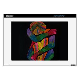 Rodilla que abraza el retrato del arte pop calcomanías para 38,1cm portátiles