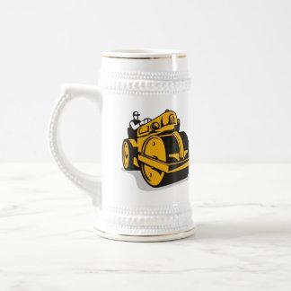 Rodillo de camino del vintage retro jarra de cerveza