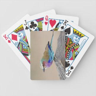 Rodillo de la Lila-breasted (caudata del Coracias) Baraja Cartas De Poker