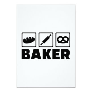 Rodillo del pretzel del pan del panadero invitacion personal
