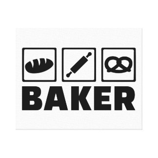 Rodillo del pretzel del pan del panadero impresión en lona estirada