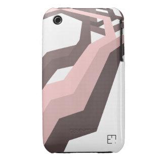 Rodillo del rosa del minimalera de la casamata iPhone 3 cárcasa
