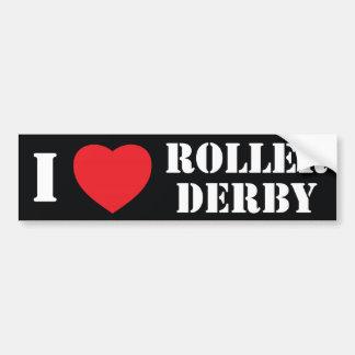 Rodillo Derby del corazón I Pegatina Para Auto