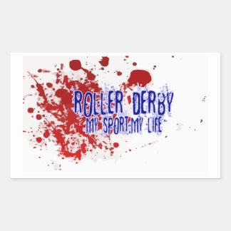 ¡Rodillo Derby, mi deporte mi vida! pegatina