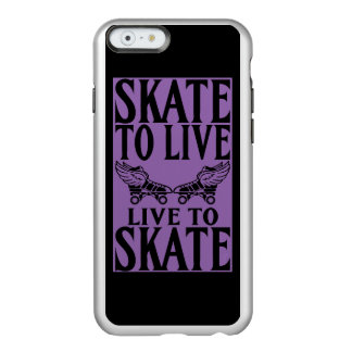 Rodillo Derby, patín a vivir vivo para patinar Funda Para iPhone 6 Plus Incipio Feather Shine