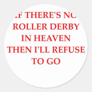 rodillo derby pegatina redonda
