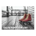 Rodillo Derby, Rollerskates, invitación de la foto Invitación 12,7 X 17,8 Cm