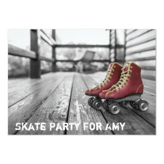 Rodillo Derby, Rollerskates, invitación de la foto