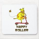 Rodillo feliz alfombrillas de ratones