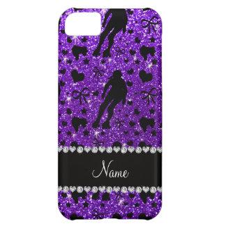 Rodillo púrpura derby del brillo conocido de funda para iPhone 5C