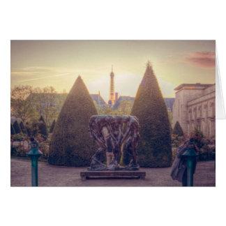 Rodin jardin du musée à l'heure d'or cards