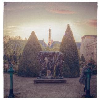 Rodin jardin du musée à l'heure d'or cloth napkins