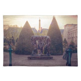 Rodin jardin du musée à l'heure d'or cloth place mat