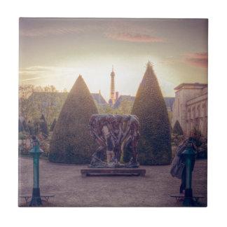 Rodin jardin du musée à l'heure d'or ceramic tiles
