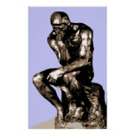"Rodin ""la lona del pensador"" - póster"