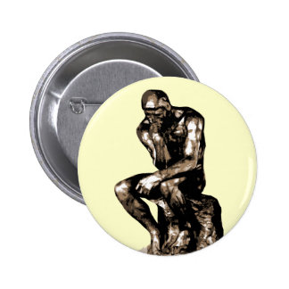 "Rodin ""The Thinker"" - Button"