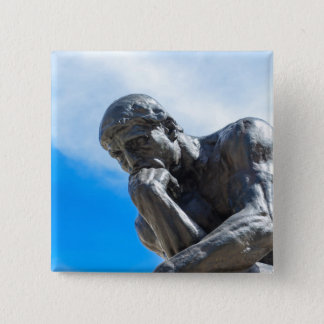 Rodin Thinker Statue Button